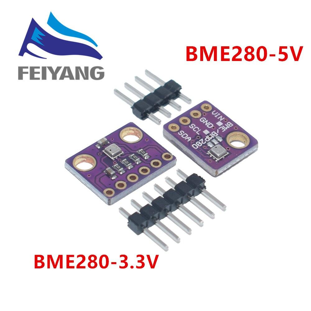 Módulo i2c spi 3.3-5 v do sensor da pressão barométrica da umidade da temperatura do sensor de bme280 5 v 1.8 v digitas