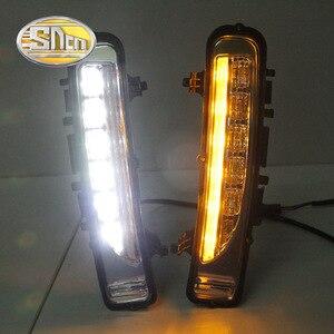 Image 5 - Per Ford Edge 2009 ~ 2014 Luce di Marcia diurna DRL LED Nebbia Copertura Della Lampada Con Il Giallo Segnale di Svolta Funzioni