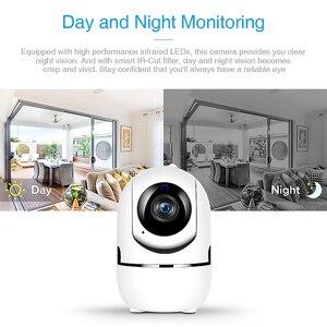 Image 4 - AOUERTK caméra de Surveillance IP WifI hd 720P, dispositif de sécurité sans fil, avec détection de mouvement et Audio bidirectionnel, avec détection automatique