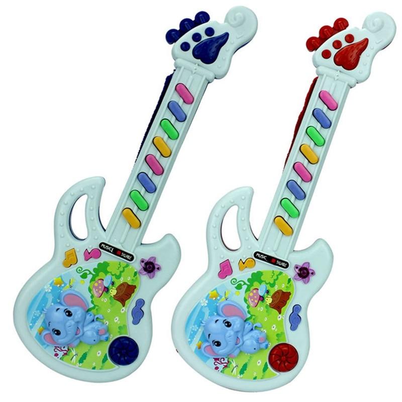 Kids Development Musical Instrument Guitar Toy Children Electric Guitar Toys Fun Color Random