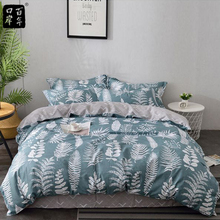 Bedding Set 4Pcs/Set Cartoon Lovely Bed Textile Small Fresh Bed Set Print Cover Bed Sheet Pillowcase & Duvet Cover Wave Point flamingo random print bed sheet set