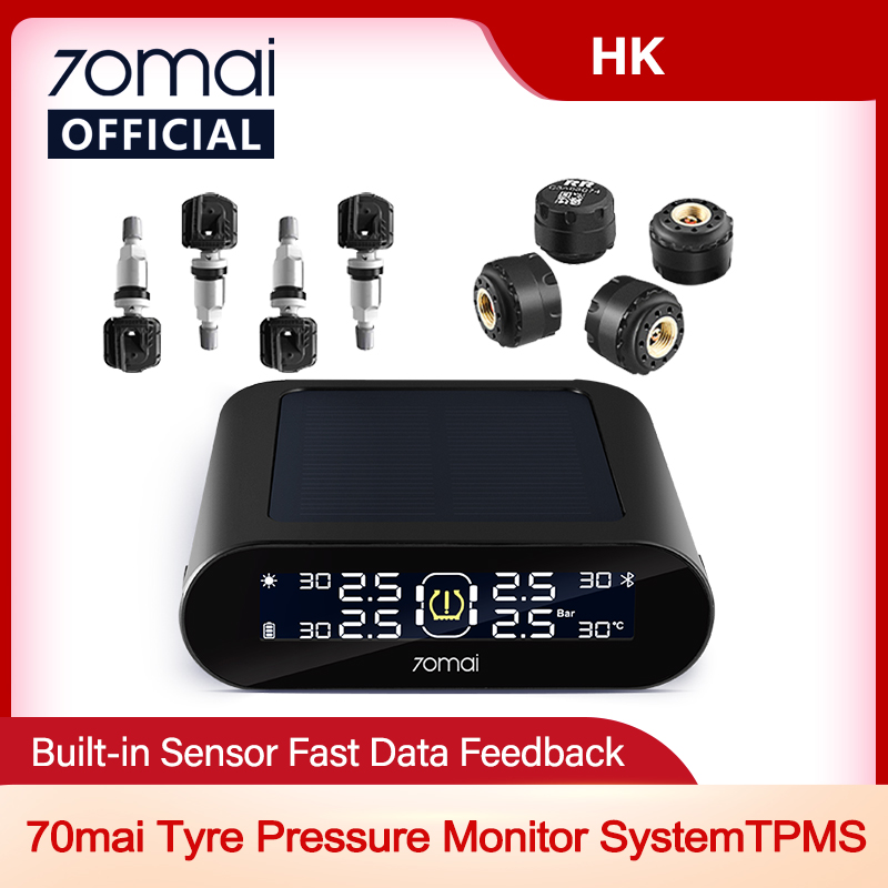 Tire-Pressure-Monitoring-System Led-Screen Car-Mobile-App-Control Auto-Security-Alarm
