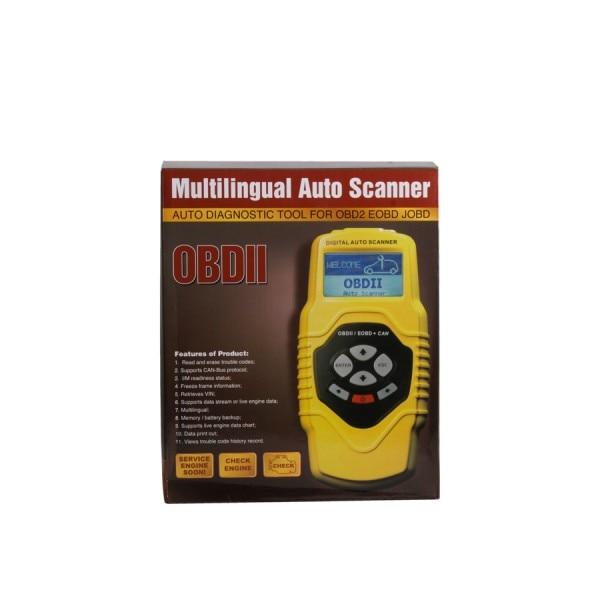 Highend Diagnostisch Scan Tool Obdii Auto Scanner T79 (Geel Multilingual Updatable) Een Jaar Garantie