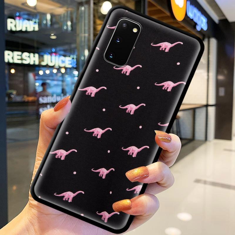 Cute Dinosaur Silicon Shell For Samsung Galaxy S20 FE S21 Ultra 5G S8 S9 Coque For SAMSUNG S10 S20 Plus S10e TPU Case