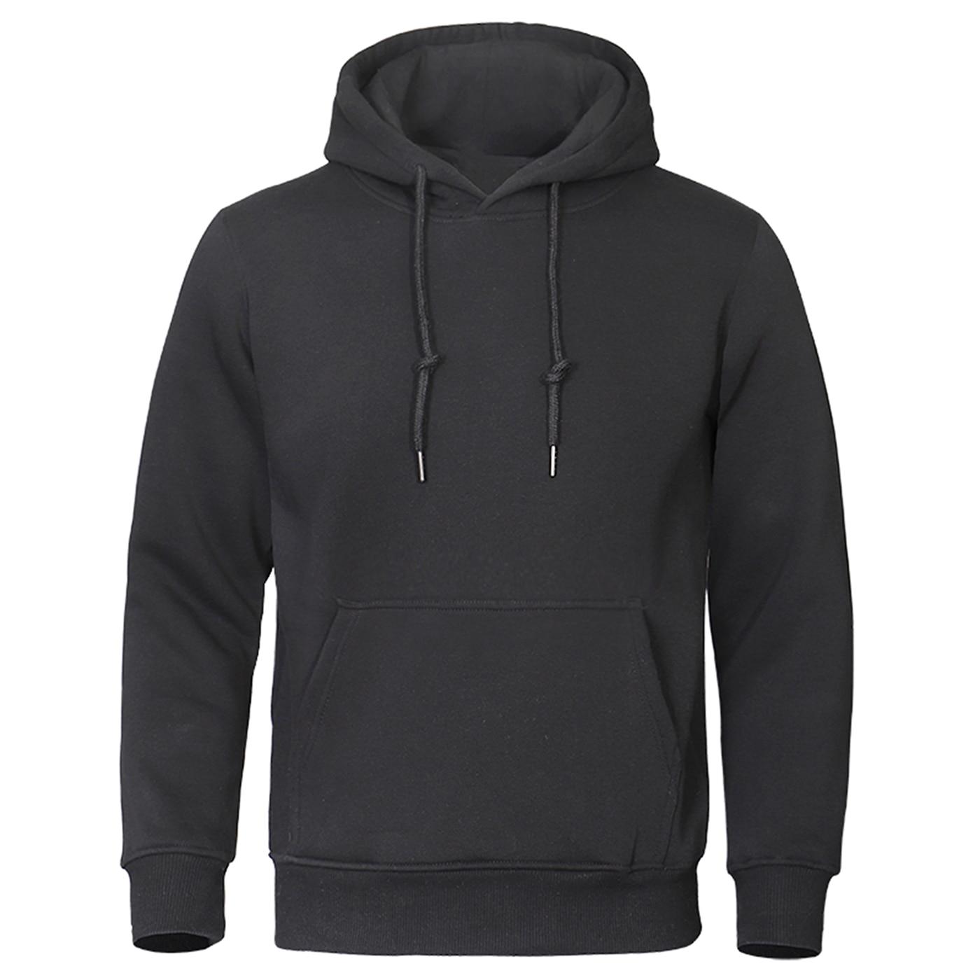 2019 Autumn Winter Men Hoodies Fleece Warm Mens Sweatshirt Fashion Streetwear Casual Men's High Quality Pullovers Brand Hoody