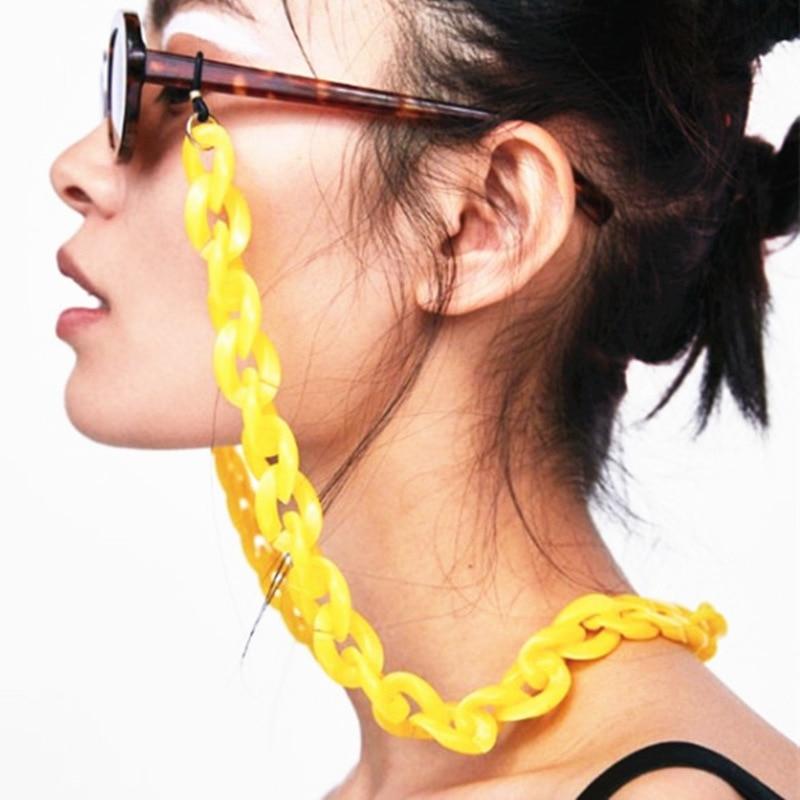 Рок акриловая цепочка для очков 24 карамельных разных цветов креативные очки веревка широкая противоскользящая подставка для чтения солнцезащитные очки ремешки с петлей|Аксессуары для очков|   | АлиЭкспресс