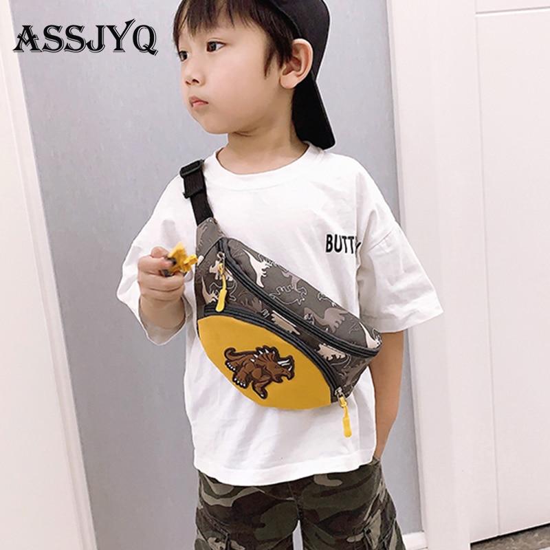 2019 Kid Waist Bag For Girl Boy Fashion Fanny Pack Anime Dinosaur Chest Bag Children Belt Bag Money Pouch Baby Zipper Wasit Pack