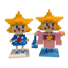 hot LegoINGlys creators Classic cartoon twin star girls mini micro diamond building blocks model nano bricks toys for child gift стоимость