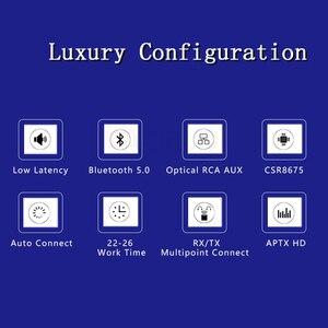 Image 2 - DISOUR CSR8675 Aptx HD محول لاسلكي 3.5 مللي متر AUX 5.0 2 في 1 الصوت بلوتوث استقبال الارسال AAC SBC الكمون المنخفض لسيارة TV