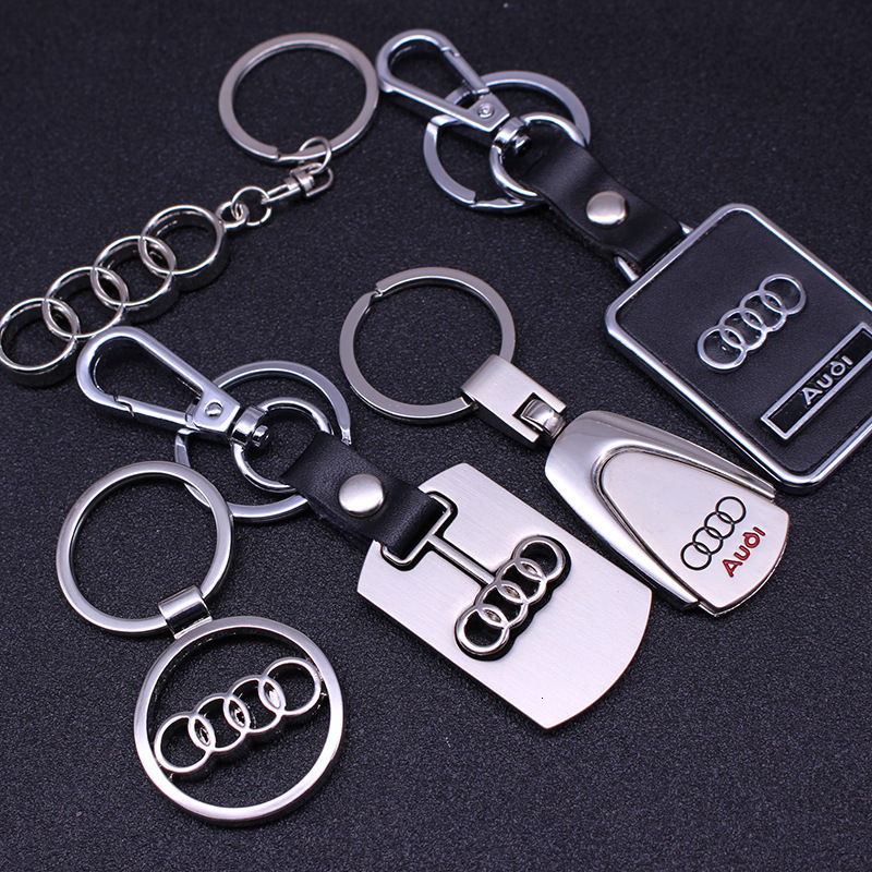 Apply To Audi Key Buckle Pendant A4l A6l Q3 Q5 Q7 A3 A5 A8ls8a1 4s Shop Gift Gold Leather Car Key Chain Keychain 2019 New