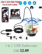 H4319d37078714de7ac885dbbbcecf71a7 5.5mm Endoscope Camera 1/1.5/2/3.5/5M  2 in 1 Micro USB Mini Camcorders Waterproof 6 LED Borescope Inspection Camera For Android
