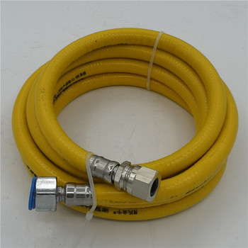 100cm 200cm 1/2 inch DN15 Domestic natural gas pipe 304 stainless steel Metal corrugated hose Cooker Water heater accessories image