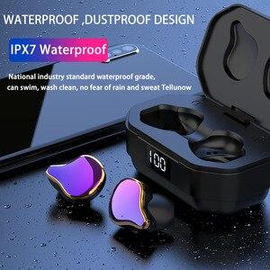 Image 5 - QCR G01 אלחוטי אוזניות 5.0 TWS Bluetooth אוזניות אלחוטי אמיתי סטריאו EarBud ספורט דיבורית אוזניות עם טעינת מיקרופון