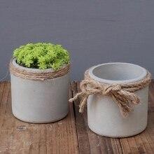 Diy Craft Round Shape Flowerpot Silicone Mold for Desktop Cement Pot Molds Concrete Cactus Planting Mould