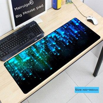 Mairuige Blue Space Large Gaming Mouse Pad 400*900*4mm Speed Locking Edge Mouse Keyboards Mat Mousepad for CSGO Dota 2 LOL цена 2017