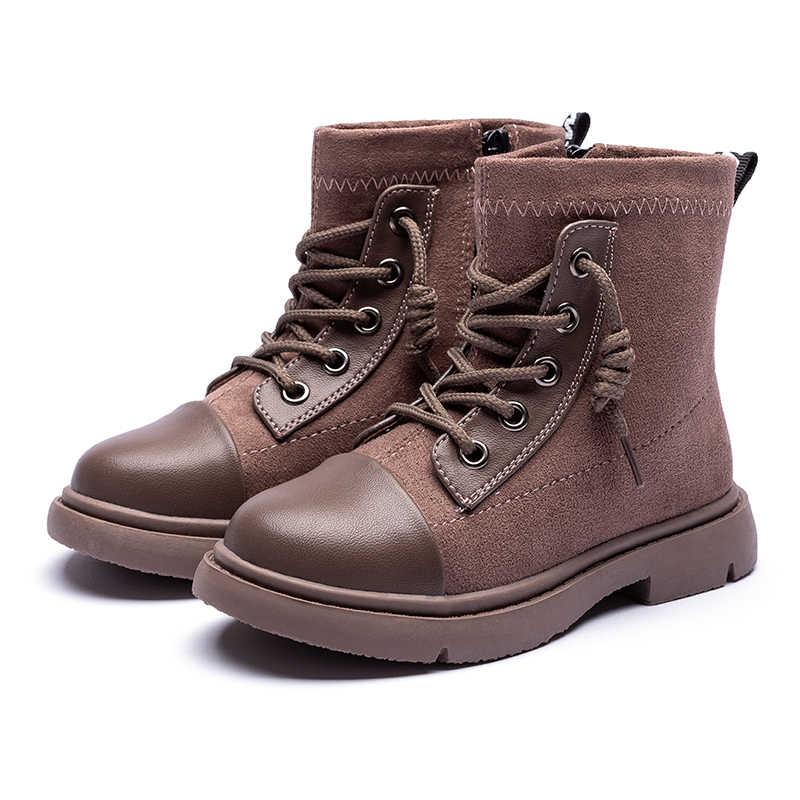 ULKN/Обувь для девочек; коллекция 6553 года; зимние модели; Детские модные ботинки из хлопка; Цвет Черный; Размеры 26-36; детские ботинки