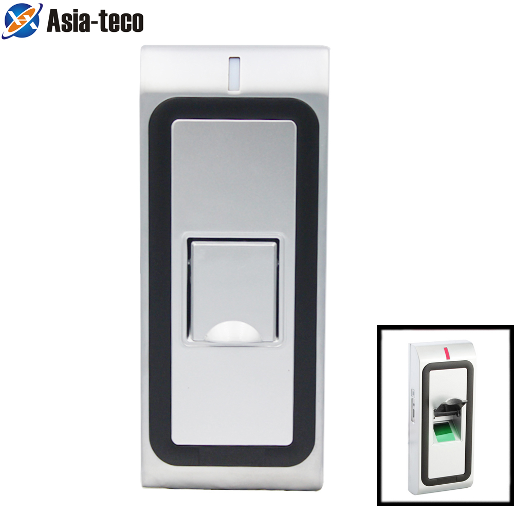 Metal IP65 Waterproof Biometrics Fingerprint Access Control System 1000 Users RFID 125khz Reader Door Access Control