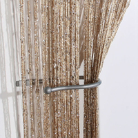 1 Panel Door String Curtain Fly Screen Room Divider Fringe Window Glitter Lot