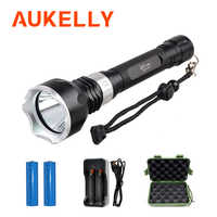 Led scuba diving flashlight Waterproof Underwater lamp L2 Rechargeable led torches High Power Diver linterna Dive Metal Light