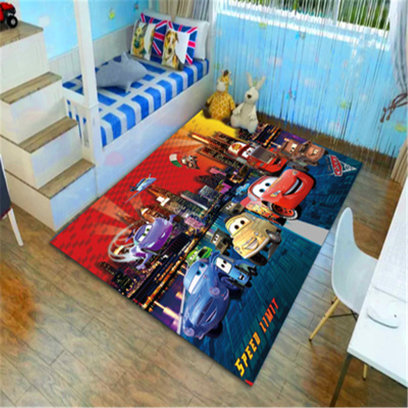 Disney 3D Cars Lightening McQueen Door Mat Kids Boys Girls Game Mat Bedroom Kitchen Carpet Indoor Bathroom Mat Birthday Present