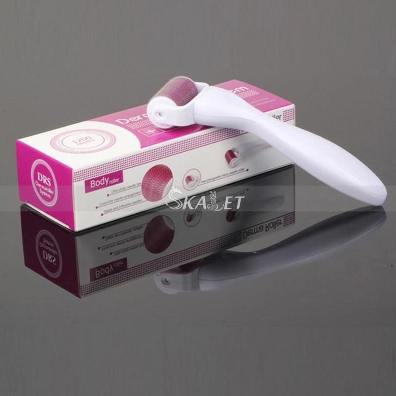 New DermaRoller 1200 Titanium Micro Needle 0.2-0.3mm Skin Care Scar Acne Removal Home Use