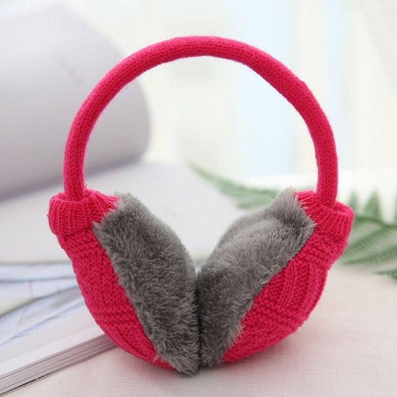 Зимние Наушники унисекс, плотные зимние теплые вязаные наушники для мужчин Wo men s Earflap Earmuffs, съемные плюшевые наушники