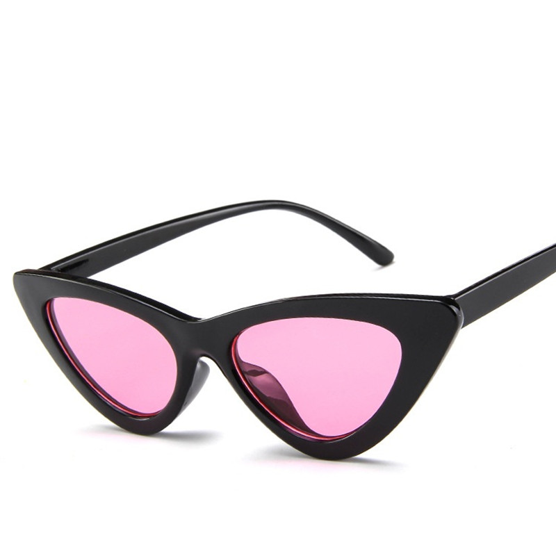 Retro Cat Eye Sunglasses Women Brand Designer Mirror Black Triangle Sun Glasses Female Lens Shades Fashion Ladies Glasses UV400