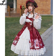 Hydrangea & Kitten ~ Elegant Printed Lolita JSK Dress Printed Party Dress