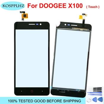 Перейти на Алиэкспресс и купить 5 дюймНовый сенсорный экран Для doogee x100 Сенсорная Панель переднее стекло дигитайзер для x 100 сенсорный экран дигитайзер