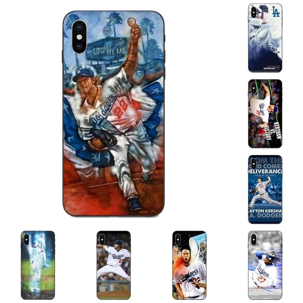 TPU Skin Clayton Kershaw เบสบอลสำหรับ Xiaomi Redmi หมายเหตุ 3 3S 4 4A 4X5 5A 6 6A 7 7A K20 Plus Pro S2 Y2 Y3
