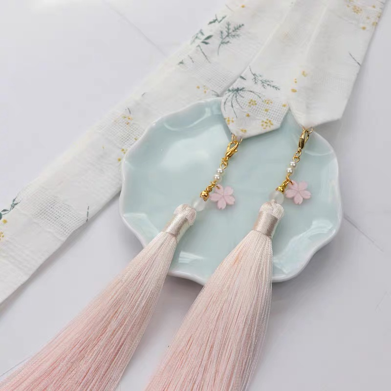 Wan Series Of Moss, The Original Chinese Wind Hanfu Tassel Hair Band Ancientry Headdress Hanfu Cos Hair Accessories