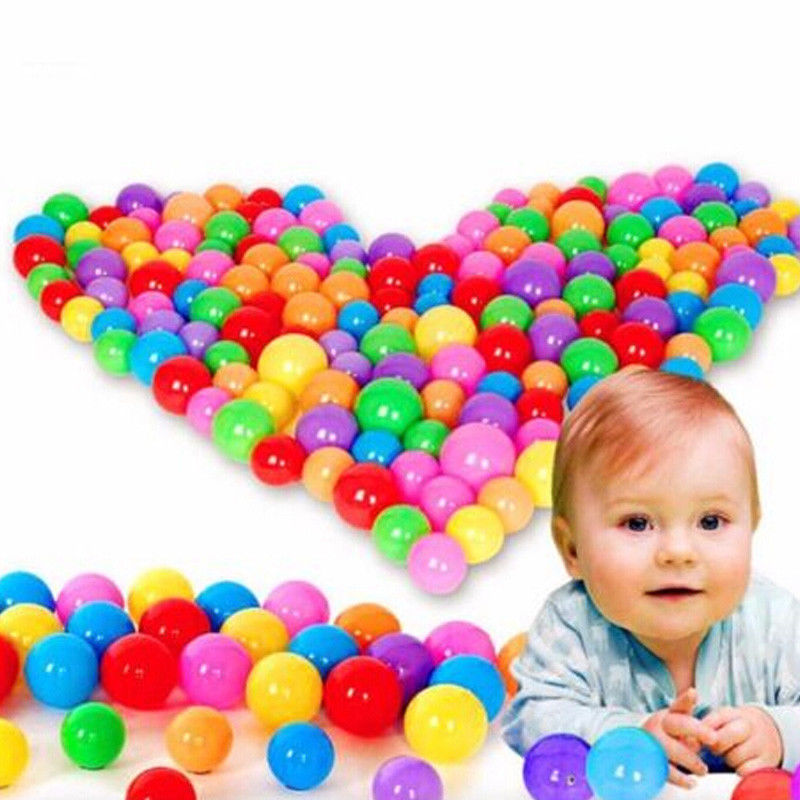 Brand New 20-100 PCS Plastic Colorful Ball Fun Ball Soft Ocean Ball Kid Toy Swim Pit Toy