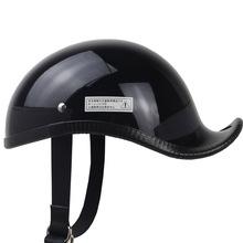 Retro scoop kask dla Harley melon kaczka ogon kask vibrato oficer bezpieczeństwa ten sam gang kask kask motocyklowy pół kask tanie tanio CN (pochodzenie) 0 8kg Unisex Z włókna szklanego Kaski