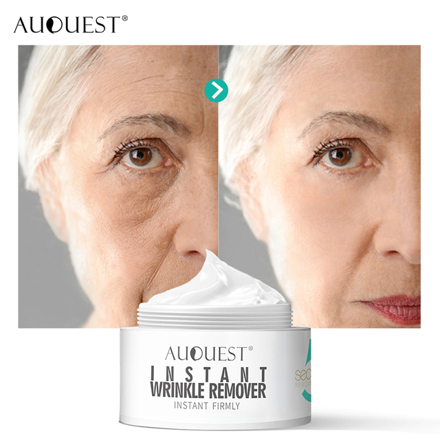 AuQuest 5 seconds Wrinkle Remover Puffy Eye Bags Firm Skin Lifting Peptide Anti Aging Day Cream Makeup Primer Makeup Base Beauty 4