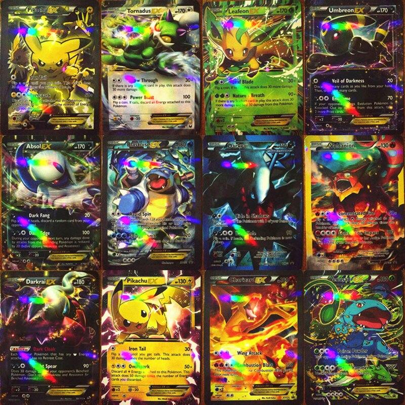 200 Pcs GX MEGA Shining TAKARA TOMY Cards Game Battle Carte 100pcs Trading Cards Game Children Toy
