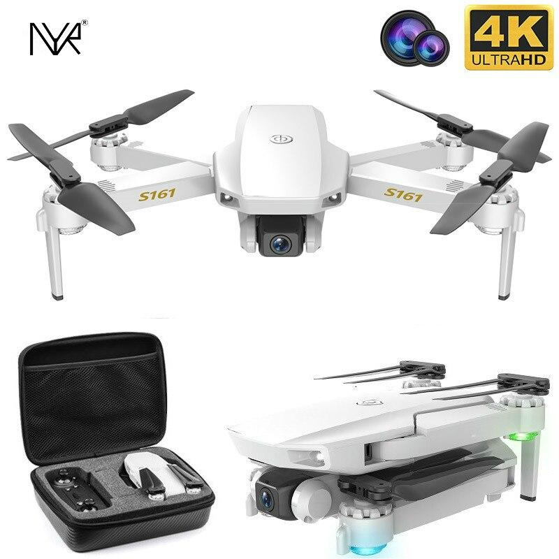 Nyr novo rc drone s161 fluxo óptico posicionamento 4k hd dupla lente profissional fotografia aérea dobrável quadcopter menino brinquedo presente|Helicópteros rc|   -