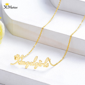 Fashion Personalized Name Necklace For Women Stainless Steel Choker Custom Nameplate Necklace Customized Jewelry Gift 2020