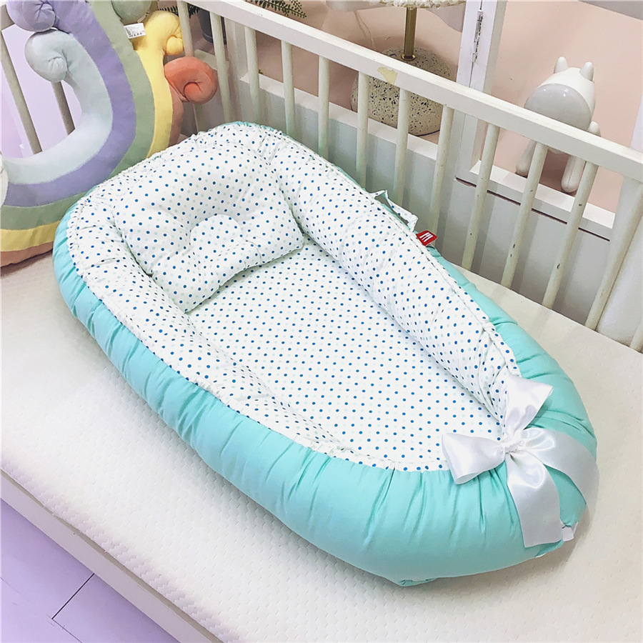 Portable Baby Bed With Pillow Newborn Baby Nest Bed Nido Bebe Infant Crib Cradle Babies Cot Bassinet