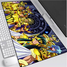 Anime Saint Seiya Gaming Laptop Computer Mouse Pad XXL Large Mouse Pad Gaming Accessories Gamer PC Desk Mat Gaming Desk 90X40CM