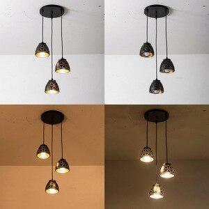 Image 2 - Nowa lampa wisząca Led jadalnia nowoczesna E27 wisiorek oświetlenie do sypialni kawiarnia lampy wiszące Nordic żelaza abażur oświetlenie kuchni