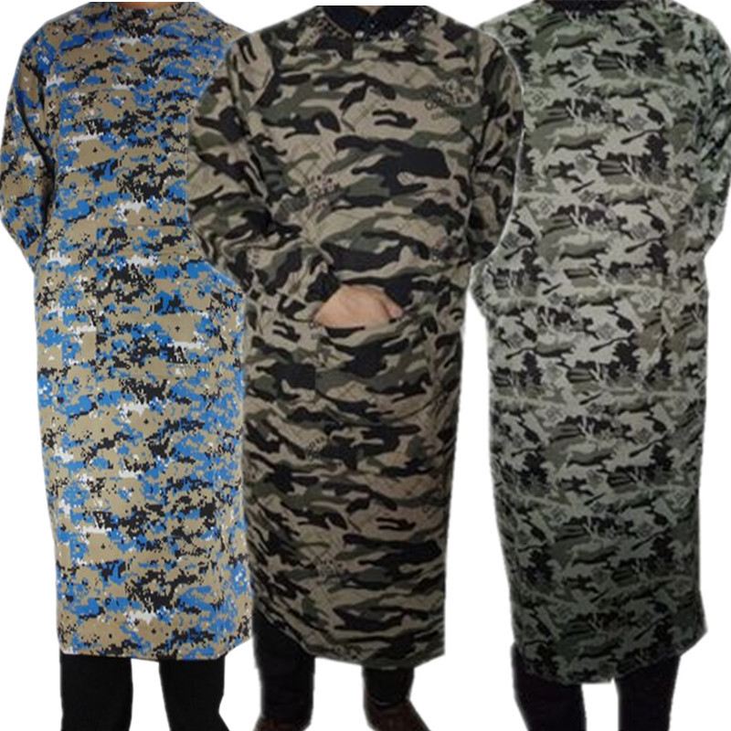 Bib Adult Work Clothes Men Handling Camouflage Antifouling Dust Cover Clothes Labor Safety Apron Down Jacket Hood Protective Clo