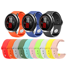 22mm Soft Silicone Watch Strap Band for Xiaomi Huami Amazfit Pace Smart Watch Replacement Colorful Bracelet Wrist Band Straps 2 clors new replacement colorful wristband band strap bracelet wrist straps material silicone straps b1568 180823 yx