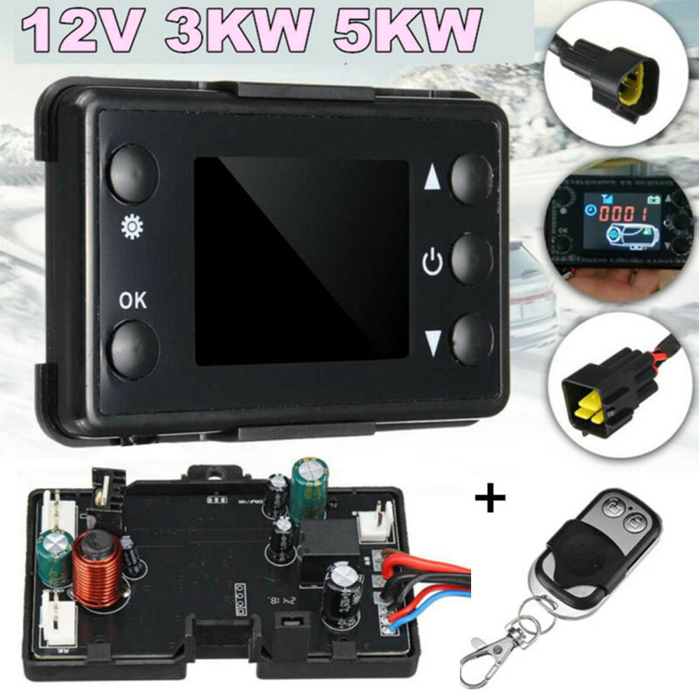 Universal ABS Plastic Car Motherboard Air Diesel Heater 3KW/5KW 12V /24V Switch&Remote Controller Auto Heater Parts