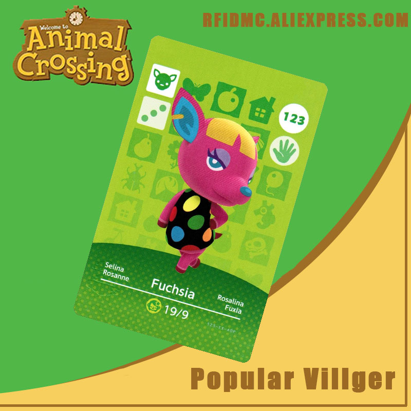 123 Fuchsia Animal Crossing Card Amiibo For New Horizons