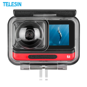 TELESIN Underwater Housing Waterproof Protective Case Cover for Insta360 ONE R 4K 360 Panoramic Edition Action Camera Accessorie