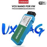 VXDIAG-herramienta de diagnóstico de coche VW, OBD2 escáner de código, WIFI, dispositivo automático de programación en línea, VCX NANO, para AUDI