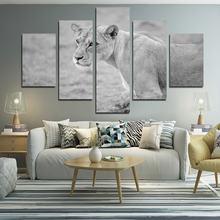 5 шт декоративная живопись с изображением белого тигра
