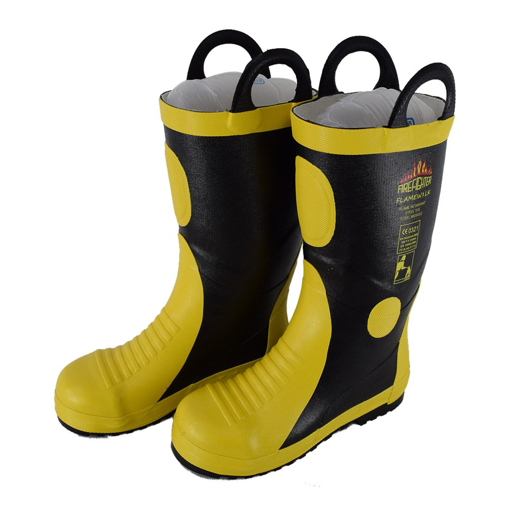 DA-085 High Temperature Resistant Rubber Fire Fighting Safety Boots Heat Proof Shoes High Temperature Work Boots