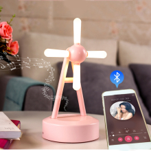 Smart Touch Control Color Changing Night Light Bluetooth Speaker Portable Wireless LED Themes Bedside Table Light