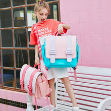 2020New Fashion Children's School Bag PU Backpacks Kids Bags Rainbow Girl Pink Waterproof Mochila Infantil School Bags for Girls